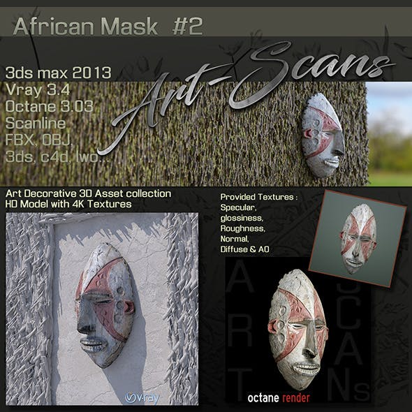 Art Scans African Mask #2