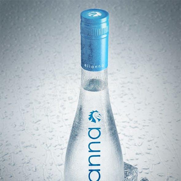 Realistic water bottle