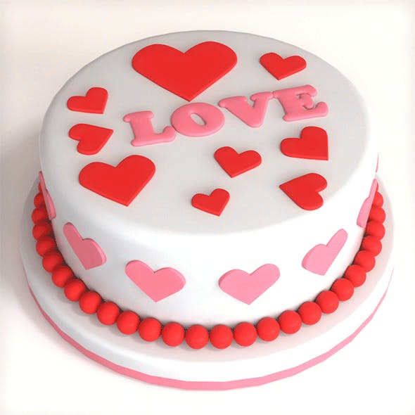Cake Valentine - 3DOcean Item for Sale