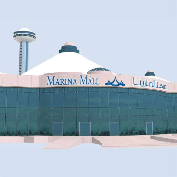 Marina Mall Abu Dhabi Low Poly
