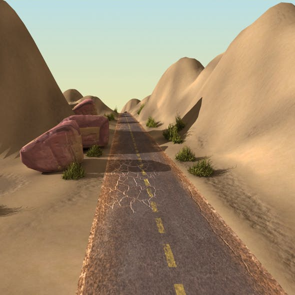 Desert Landscape with Road
