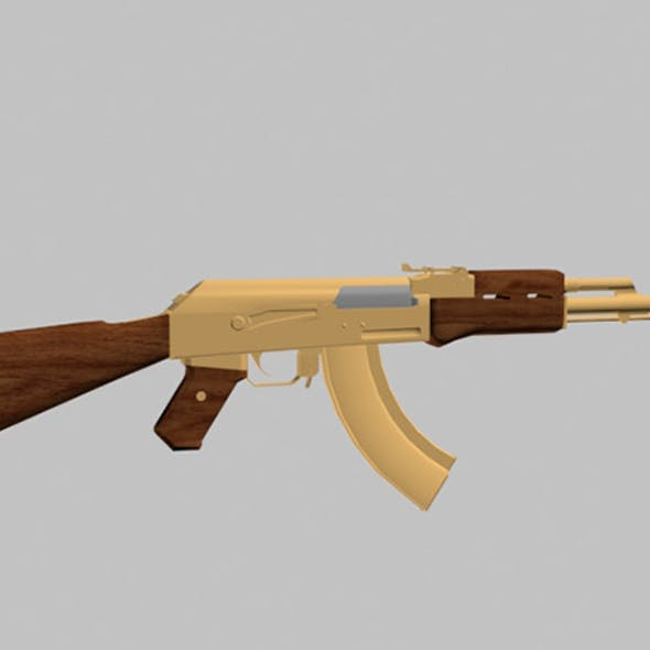 ak 47 gold rifle