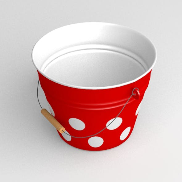 Retro garden bucket