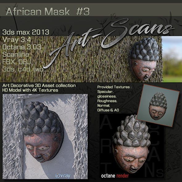 Art Scans African Mask #3