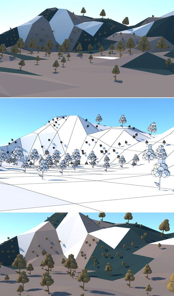 Low Poly Hills 2 - 3DOcean Item for Sale