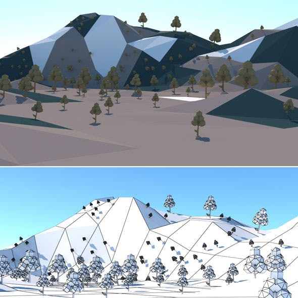 Low Poly Hills 2