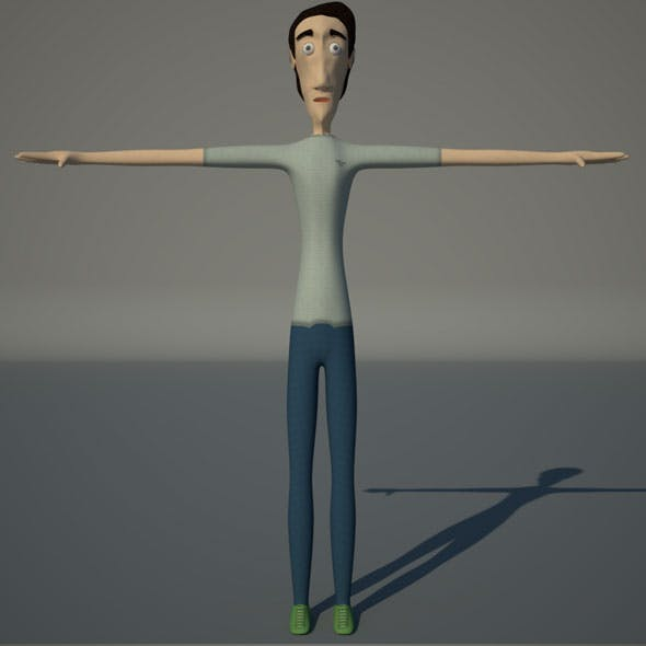 Low Poly Cartoon Character