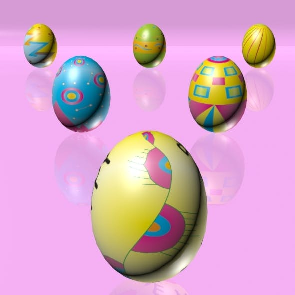 Easter Eggs Set 03 - 3DOcean Item for Sale