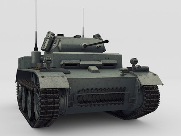 PzKpfw II Ausf L Luchs SdKfz123 - 3DOcean Item for Sale