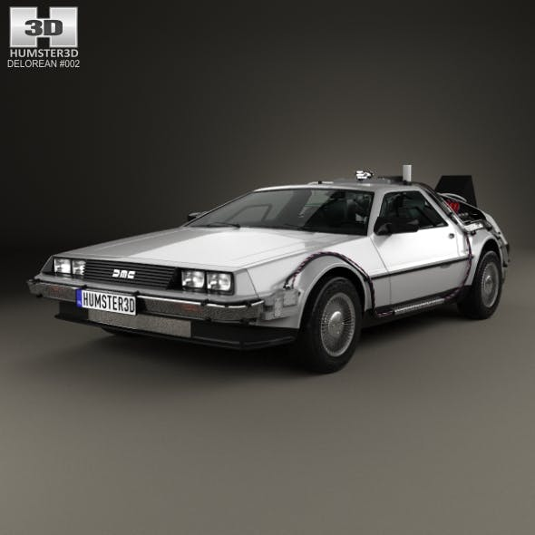 DeLorean DMC-12 (BTTF) 1981 - 3DOcean Item for Sale