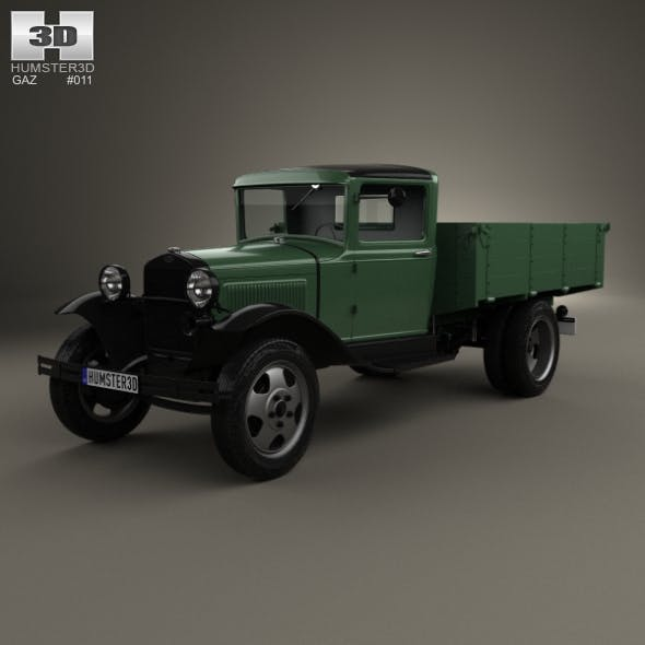 GAZ-AA Flatbed Truck 1932 - 3DOcean Item for Sale