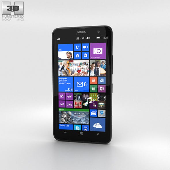 Nokia Lumia 1320 Black - 3DOcean Item for Sale