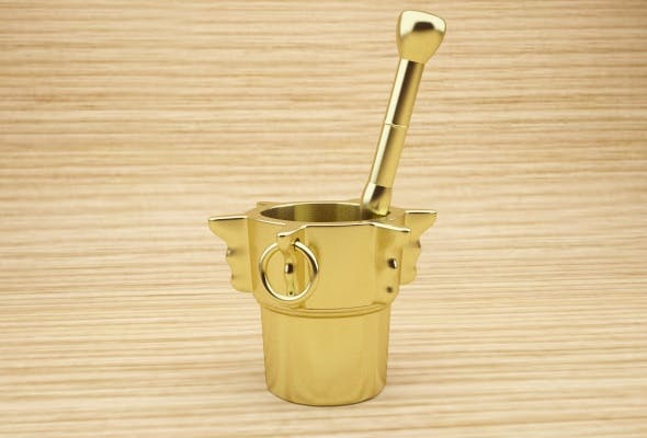 Bronze Mortar and Pestle - 3DOcean Item for Sale