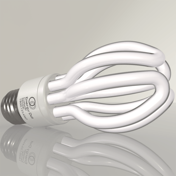 Energy Saving Light Bulb 02 - 3DOcean Item for Sale