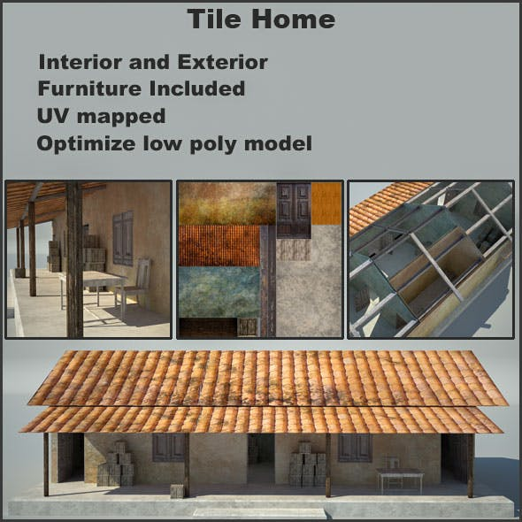 Tile Home (Interior and Furniture Included)