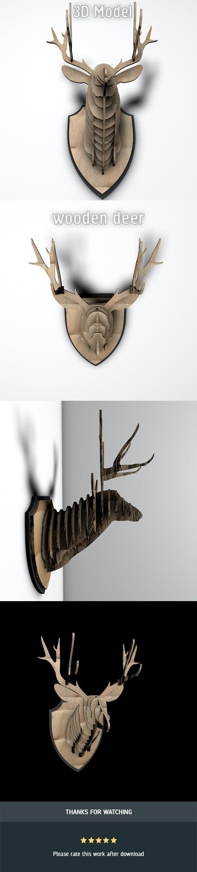 Wooden Deer - 3DOcean Item for Sale
