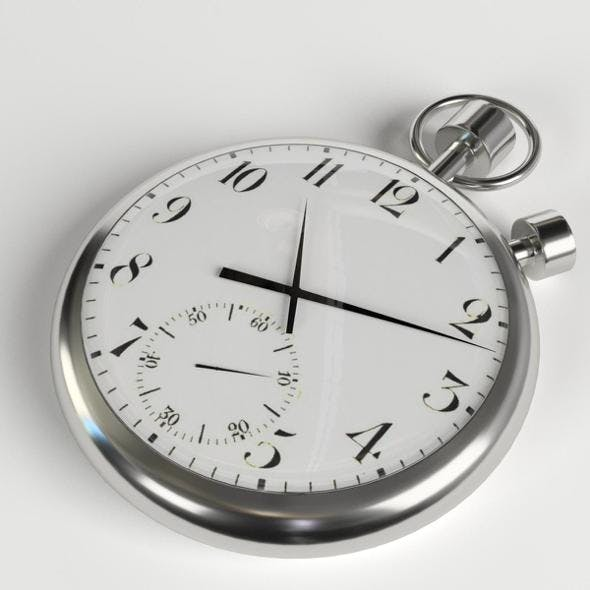 Pocketwatch (pocket watch, stopwatch) - 3DOcean Item for Sale