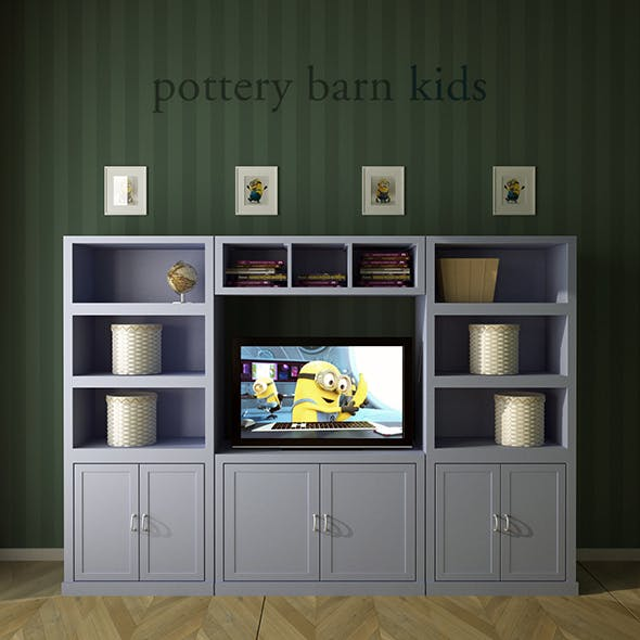 Pottery Barn, Preston Extra Wide Media Wall System.