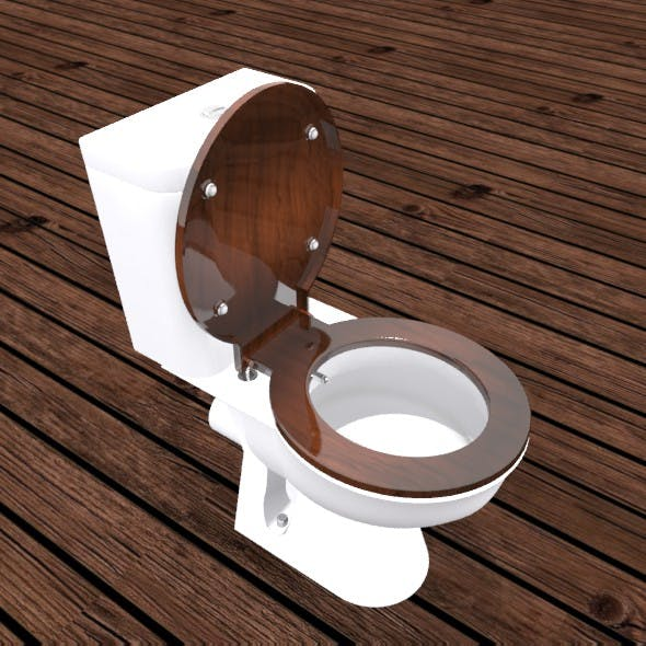 Toilet seat with bidet - 3DOcean Item for Sale