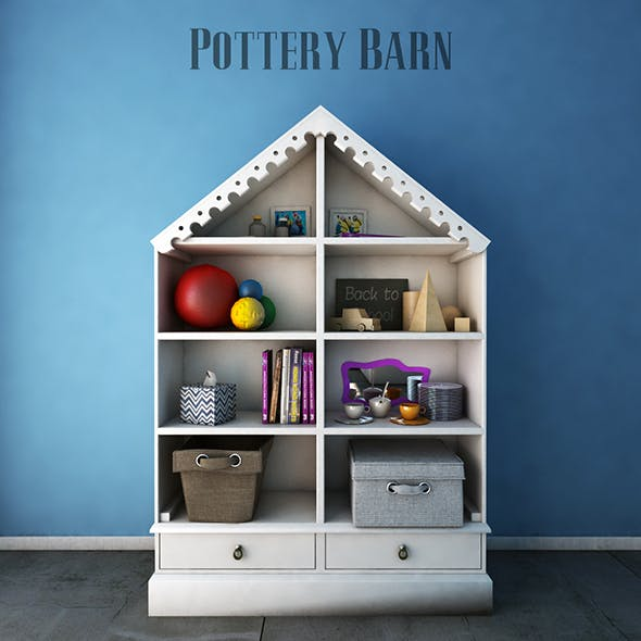 Pottery Barn Kids, Bookcases - 3DOcean Item for Sale