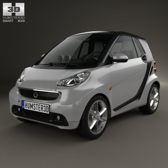 Smart Fortwo coupe 2012 - 3DOcean Item for Sale