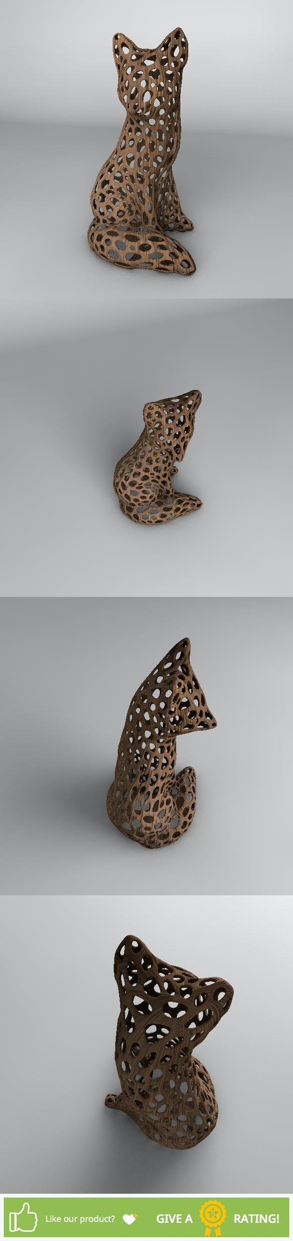 Wood Fox Voronoi - 3DOcean Item for Sale