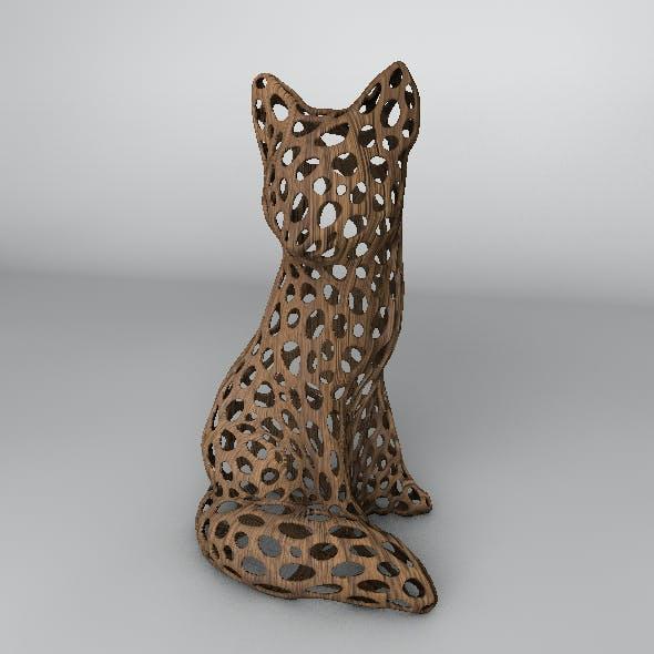 Wood Fox Voronoi