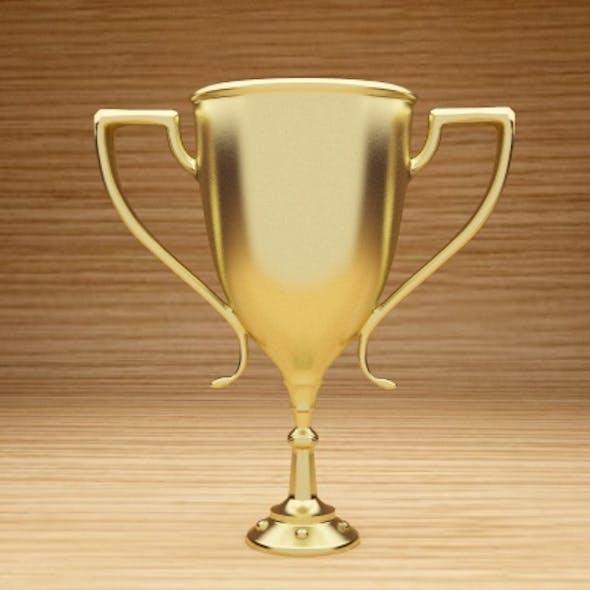 Gold Trophy Model