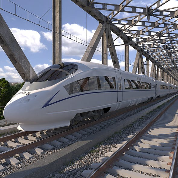 High-speed Electric Train Siemens Velaro CRH China - 3DOcean Item for Sale