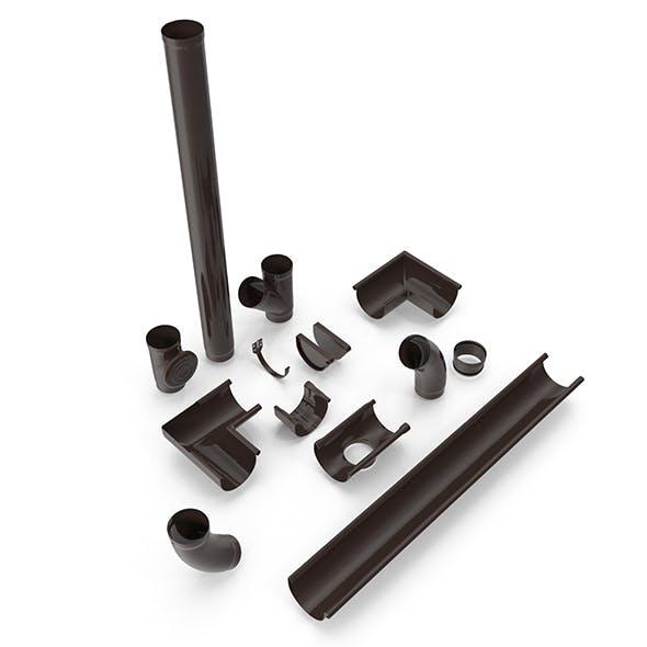 Plastic Gutter System - 3DOcean Item for Sale