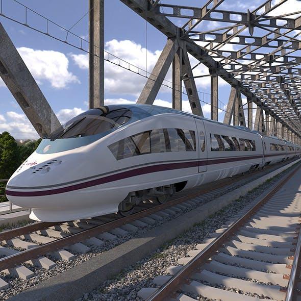 High-speed Electric Train Siemens Velaro AVE Renfe Spain - 3DOcean Item for Sale