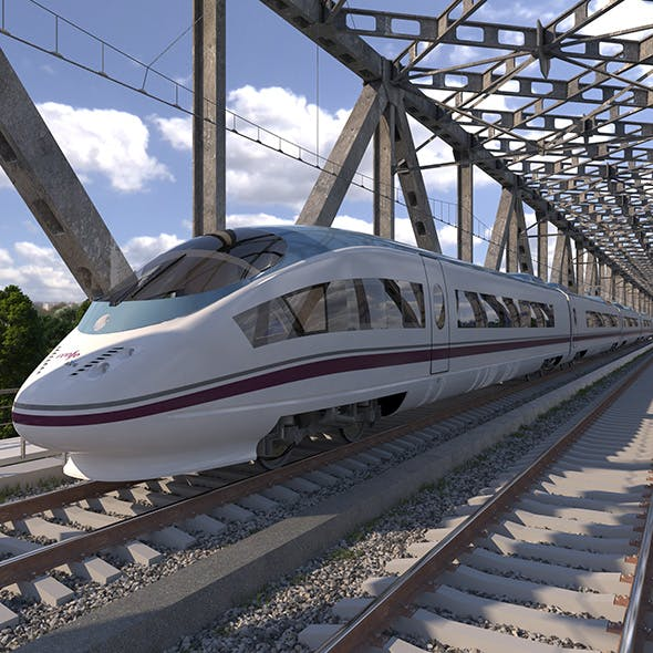 High-speed Electric Train Siemens Velaro AVE Renfe Spain