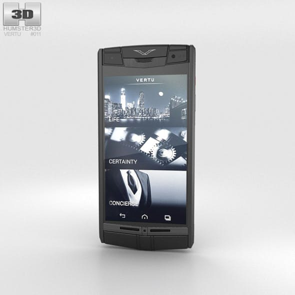 Vertu Signature Touch Pure Jet Leather - 3DOcean Item for Sale