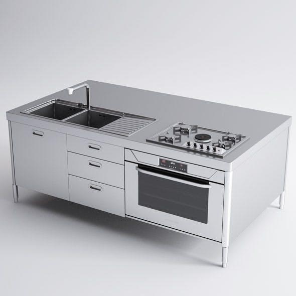 Alpes Inox Kitchen Island