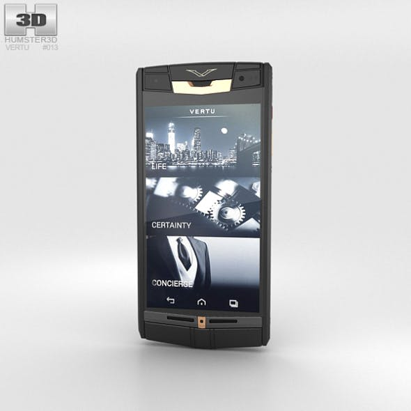 Vertu Signature Touch Pure Jet Red Gold - 3DOcean Item for Sale