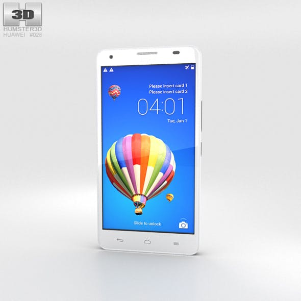 Huawei Honor 3X G750 White - 3DOcean Item for Sale