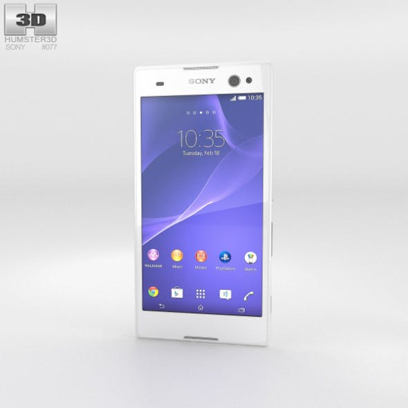 Sony Xperia C3 White - 3DOcean Item for Sale