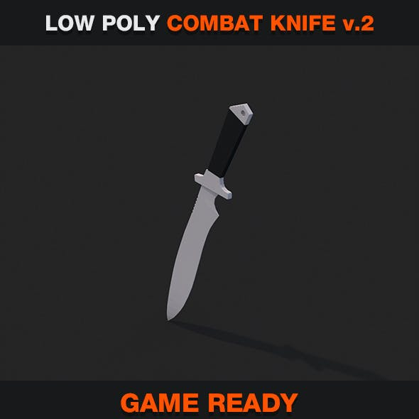 Low Poly Combat Knife v.2