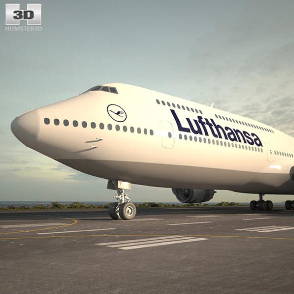 Boeing 747-8I Lufthansa - 3DOcean Item for Sale