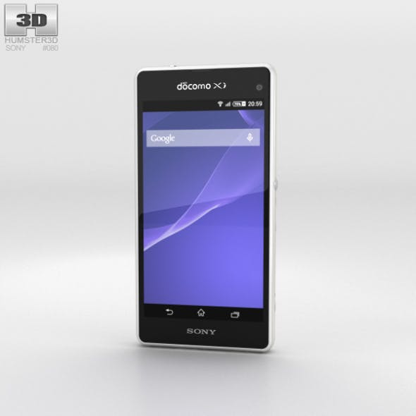 Sony Xperia A2 SO-04F White - 3DOcean Item for Sale