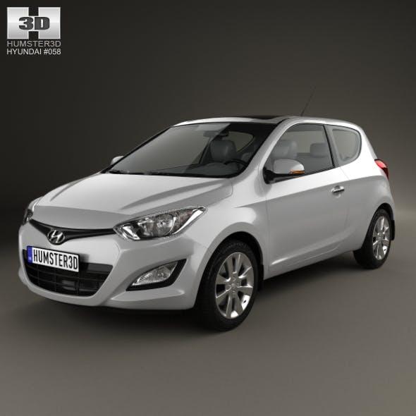 Hyundai i20 3-door 2013 - 3DOcean Item for Sale