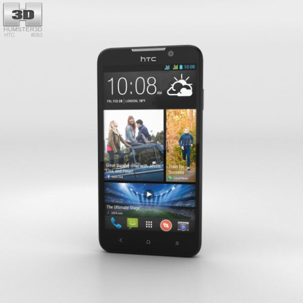 HTC Desire 516 Black - 3DOcean Item for Sale