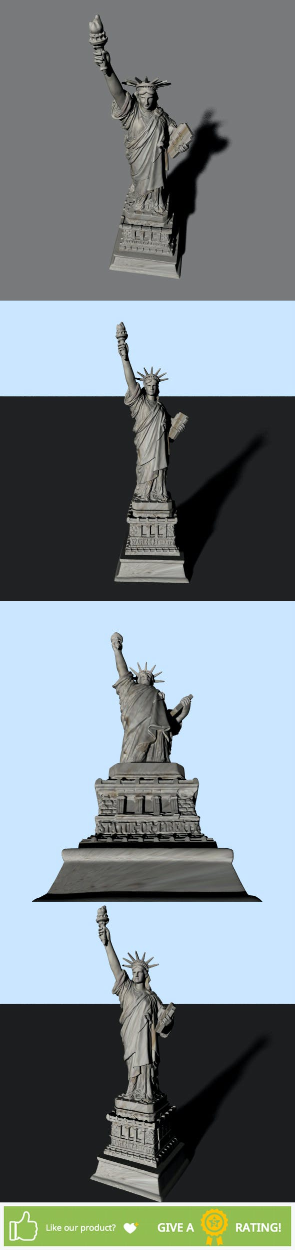 Statue of Liberty - 3DOcean Item for Sale