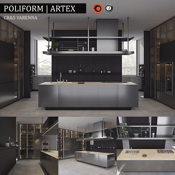 Kitchen Poliform Varenna Artex