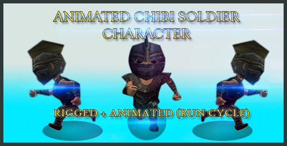 Animated Chibi Soldier Character - 3DOcean Item for Sale