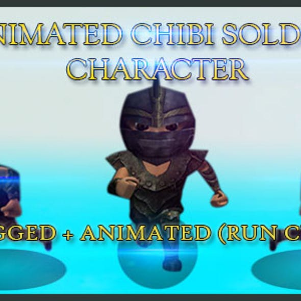 Animated Chibi Soldier Character