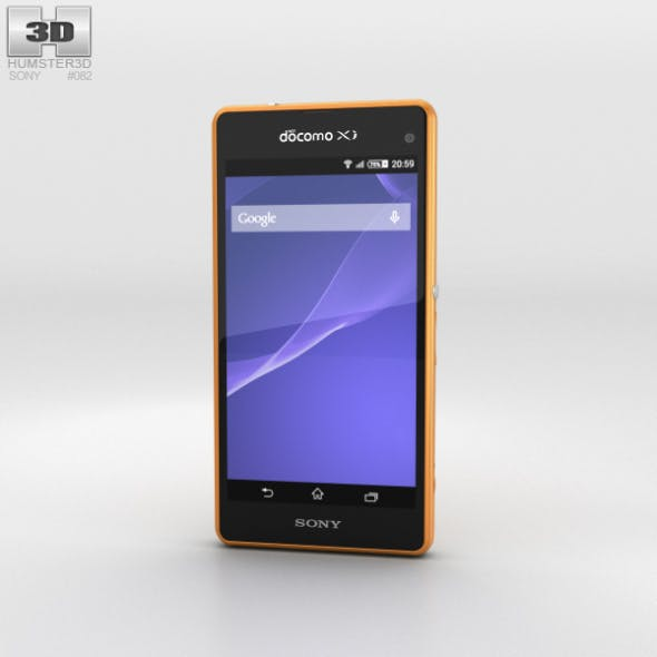 Sony Xperia A2 SO-04F Yellow - 3DOcean Item for Sale