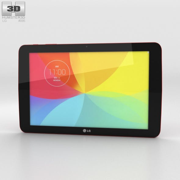 LG G Pad 10.1 Red - 3DOcean Item for Sale