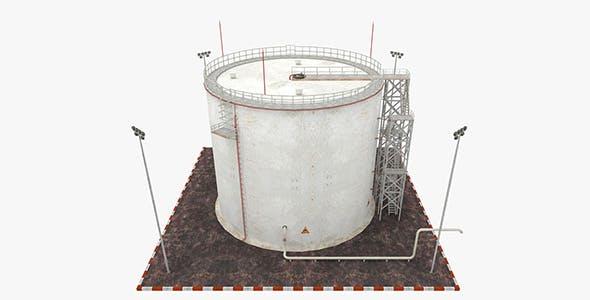 Oil Tank - Refinery - 3DOcean Item for Sale
