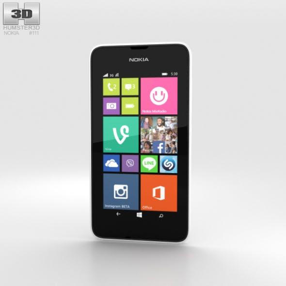 Nokia Lumia 530 White - 3DOcean Item for Sale
